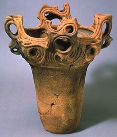Jomon Culture (ca. 10,500–ca. 300 B.C.) This is incredible detail of using coils, leaving them as decorative functions.