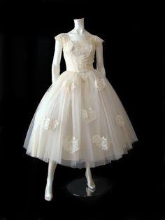 Tea Length Dresses! :  wedding dress nina short stephanie allin Ballerina Tulle Gown