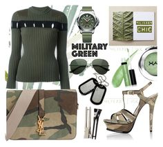 """""""Military..."""" by dragananovcic ❤ liked on Polyvore featuring Victorinox Swiss Army, Alexander Wang, Butter London, NYX and Yves Saint Laurent"""