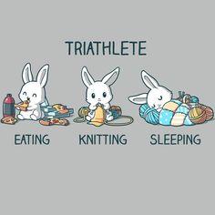 Triathlete (Crafting) T-Shirt TeeTurtle