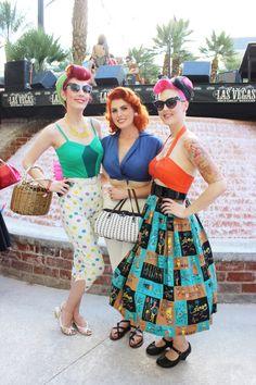 Viva Las Vegas style with pinup models Rockabilly Ruby, Doris Mayday.