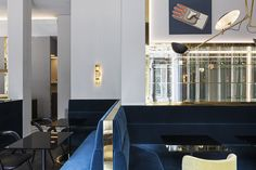 People seem to have a love hate relationship with Milan but if every place looked as chic as T'a Milano, I'm sure everyone would love the city.  The chocolate shop and bistro is a contemporary update to the Alemagne's family business. The blue velvet banquettes and citron upholstery are the perfect complement to the marble floors and brass accents. […]