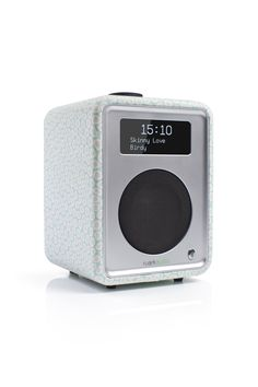 R1 MK3 Osborne & Little luxury tabletop radio, featuring contemporary design pattern from designers Osborne & Little. Inside is DAB/DAB+/FM bluetooth streaming as well as alarm functions. Available in limited numbers end of May 2015