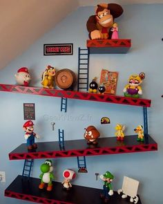 16 Geeky Video Game Room Decor Ideas for the Real Gamer - Sala Nerd, Boy Room, Kids Room, Boys Game Room, Room Baby, Deco Gamer, Video Game Rooms, Video Game Bedroom, All Video Games