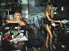 Anja Rubik, Joan Small Vogue Italia december issue 2017