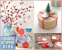 Wrapping Inspirations. I LOVE gift wrapping ideas!
