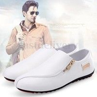 Wish   Fashion Men's England Breathable Sneakers White Recreational Casual Shoes
