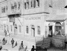 Jerusalem - poste Austrian القدس البريد النمساوي عام 1905