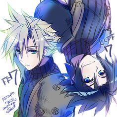 Cloud and Zack Final Fantasy VII Crisis Core #FFVII 7
