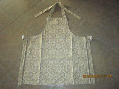 Tan Bandana Cotton (solid white backing-no pockets) - Adult Sized Apron by ShawnasSpecialties on Etsy