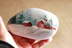 Best DIY Christmas Painting Rocks Design (20)