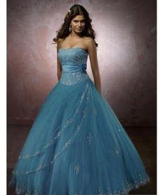 Ball Gown Strapless Floor Length wedding dress for brides