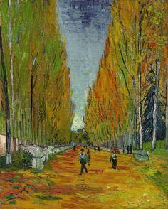 """8. Vincent van Gogh, """"L'Allée des Alyscamps"""", 1888, Öl auf Leinwand, 91,7 mal 73,5 Zentimeter: Zuschlag bei 59 Millionen Dollar (Taxe 40 Millionen Dollar), am 5. Mai bei Sotheby's in New York"""