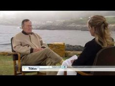 Jenna Bush Hager interviews her grandfather, George H.W. Bush on his 88th birthday 6-12-12. Sweet.
