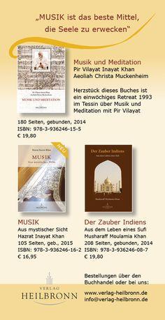 Wir machen Bücher für Menschen auf dem inneren Pfad: Musik und Meditation, Musik aus mystischer Sicht, Der Zauber Indiens - www.verlag-heilbronn.de