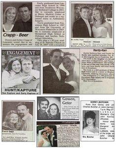 names wedding announcements provide humor funny wedding announcement Funny Wedding Photos, Funny Photos, Wedding Pictures, Wedding Name, Wedding Humor, Wedding Stuff, Party Jokes, Engagement Humor, Worst Names