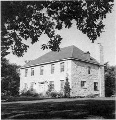Twin Oaks, Red River Road, Manitoba, built in 1857-58. Originally the Red River Academy, a private school for young ladies. Operated by Miss Matilda Davis until 1873. Property now owned by Mr. and Mrs. Neil C. Woods.