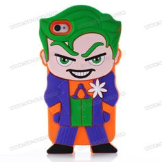 3D Freak Cartoon Bad Joker Shock Absorption Rubberized Silicone Jelly Case Cover For iPhone 4S iPhone 4 | SW-BOX.com