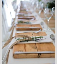 rustic cutting board as wedding favor