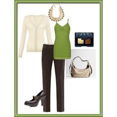 Tuesday outfit -- transitioning to Fall colors