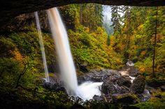 Behind North Falls Silver Falls State Park Oregon [OC] [5472 x 3648]