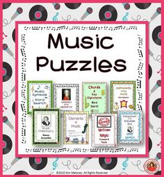 ♪ Lots of music education puzzles and games can be found here! ♪ Great to have in your music teachers 'tool kit' for early finishers or sub lessons!