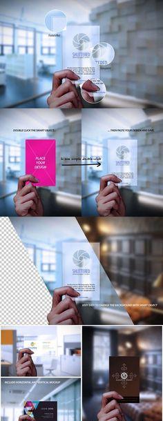 CM - Transparent Business Card Mockup 461397