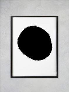 Slunce - autorský plakát A2 černá