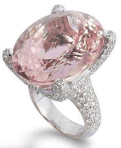 oval pink diamond ring