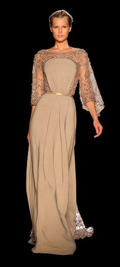 #Elie Saab  <3  The rich color and see-thru sleeves
