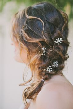 love this messy braid! photo by Fondly Forever http://ruffledblog.com/palm-springs-wedding-with-succulents #weddinghair #bride #hair
