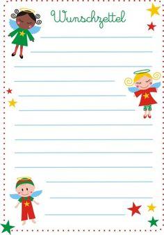 wunschzettel vorlage | briefpapier weihnachten, wunschliste weihnachten und basteln weihnachten