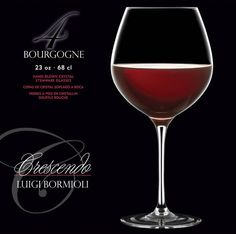 Crescendo Bourgogne glasses... Beauty meets the eye in these hand-blown crystal stemware glasses