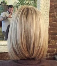 Image result for lob haircut back view