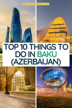 Find out all the best things to do in Baku for first-time visitors! We have compiled the top tourist attractions in Baku. European Travel, Asia Travel, Best Travel Guides, Travel Tips, Azerbaijan Travel, Journey, Best Places To Travel, Travel Around, Cambodia