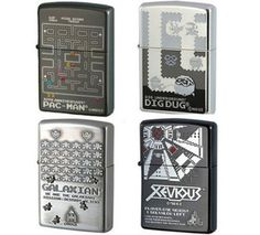 Zippo Game Lighters: PAC MAN, DIG DUG, GALAXIAN  XEVIOUS,