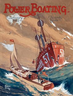 Power Boating Cover 1927 Storm On The Sea