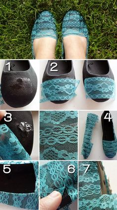 Add Lace To Your Old Pair Of Flats