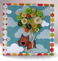 Button Greeting Cards Part 14 More Ideas for Handmade Homemade Card Making Making Greeting Cards, Greeting Cards Handmade, Making Cards, Card Making Inspiration, Making Ideas, Button Cards, Button Button, Tiddly Inks, Make Your Own Card