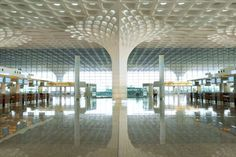 Best Ideas For Architecture and Modern Design : – Picture : – Description SOM unites mumbai airport terminal with fractal roof canopy – designboom Backyard Canopy, Garden Canopy, Canopy Outdoor, Door Canopy, Canopy Tent, Hotel Canopy, Beach Canopy, Canopy Bedroom, Fabric Canopy