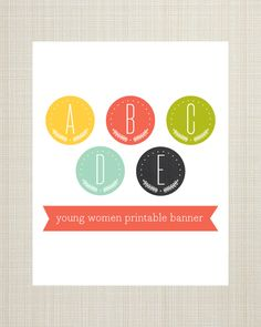 Printable Banner comes with every letter in 5 colors. Download for free until Saturday, July 6, 2013