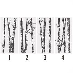 silver birch trees vinyl wall sticker by oakdene designs | notonthehighstreet.com