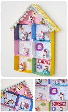 Casita de muñecas con cajas de cerillas