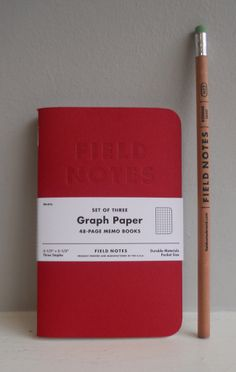 Field Notes Memo Books Red Blooded