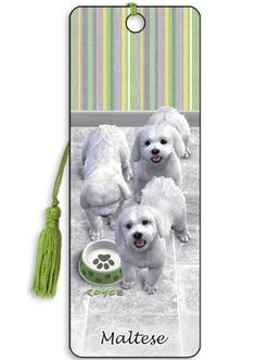 Artgame 3D Maltese Bookmark