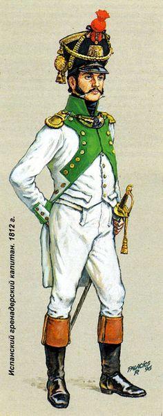 Grenadiers Captain Regt Joseph Napoleon 1812