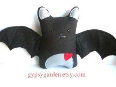 Items similar to Bat handmade stuffed animal black plush bat, toy, children, child friendly, decor on Etsy Softies, Plushies, Handmade Stuffed Animals, Craft Show Ideas, Art Dolls, Dinosaur Stuffed Animal, Child Friendly, Sewing, Toys