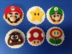 Super Mario Bros fondant cupcake toppers by Eirascustomcakery on Etsy https://www.etsy.com/uk/listing/195323895/super-mario-bros-fondant-cupcake-toppers