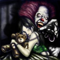 The inspiration for this, I got off of a sticker on my tool box. [Can't Sleep Clowns Will Eat Me] Thanks for looking!