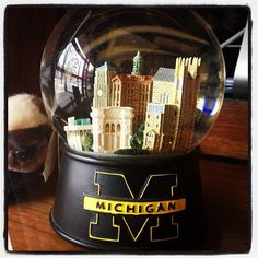 UofM snow globe!  This one's for you BECK!!